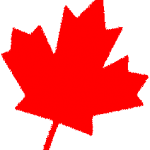 Canadian red maple leaf facing right