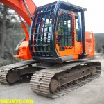 Excavator FOPS, ROPS and Guarding.  Protection for the excavator operator, manufactured by Tysea Mfg.