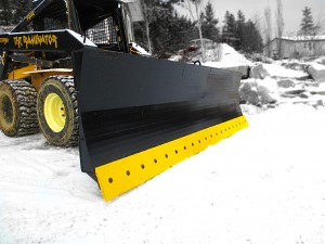 Skid steer snowblade manufactured by Tysea Mfg.