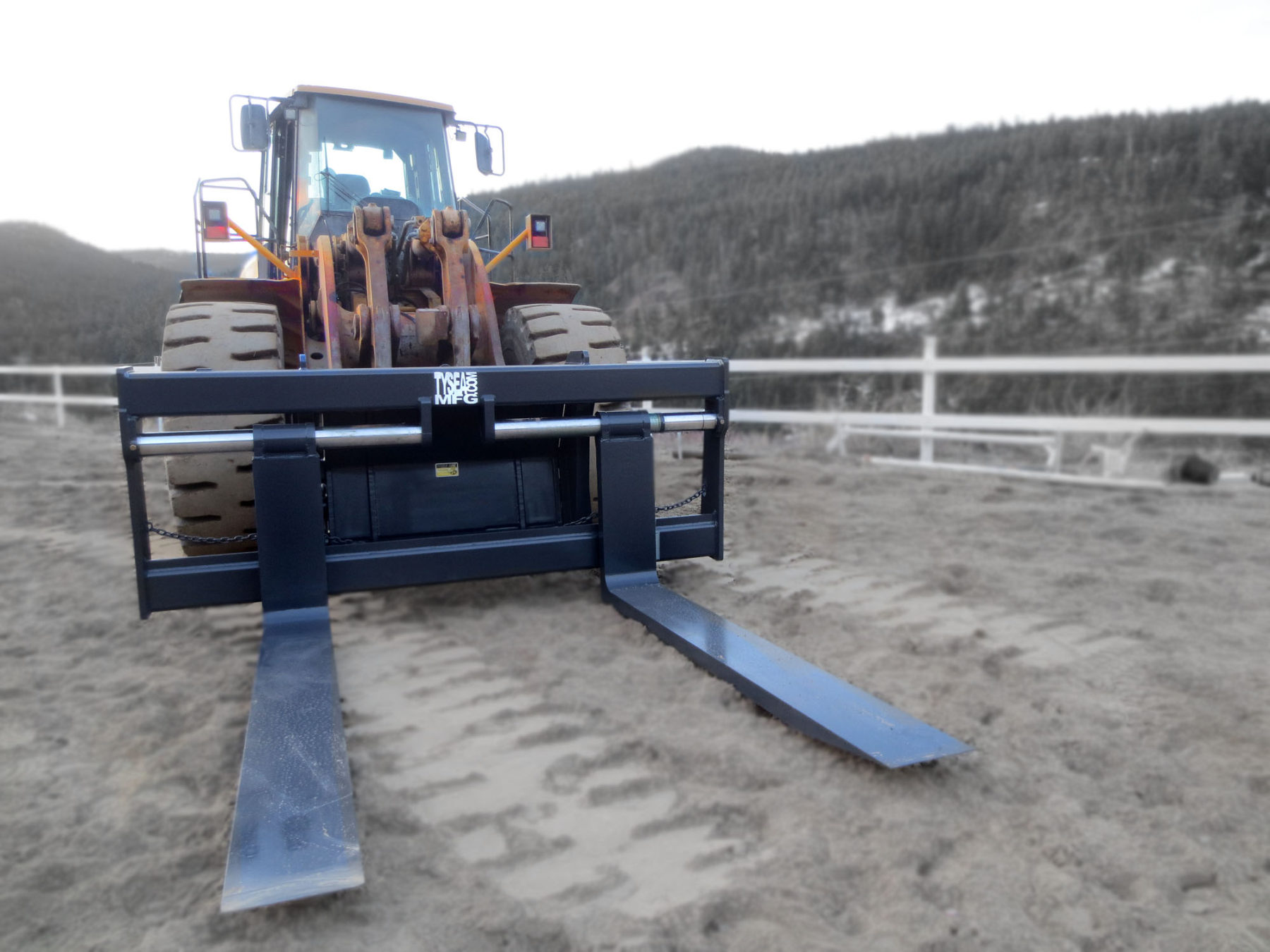 Wheel loader pallet forks for loaders, dozers and crawlers