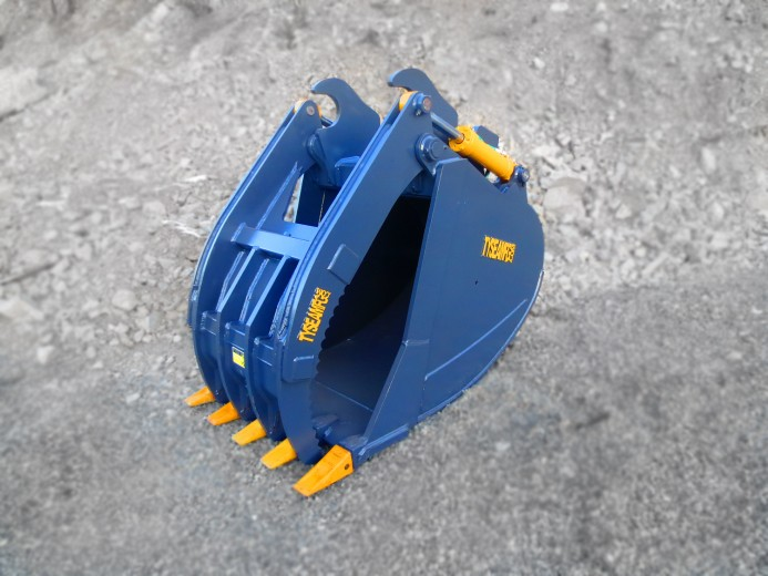 Grapple bucket, excavator grapple bucket, grabber bucket, grapple, Tysea Mfg Inc, Tysea, Tysea Mfg, bucket, excavator bucket, hitachi, komatsu, thumb, excavator thumb, construction, demolition, clam bucket, clamshell bucket