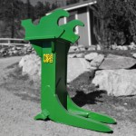 Excavator stump puller attachment