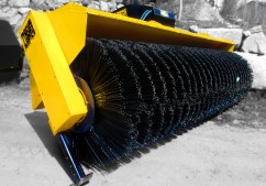 wheel loader sweeper broom with black bristles
