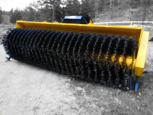 wheel loader sweeper broom