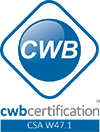 CWB Certification mark for CSA W47.1