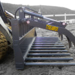 Skid steer tire grabber / multi purpose grapple