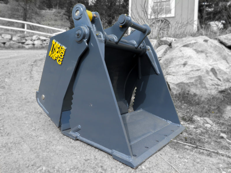 4-in-1 excavator grapple buckets used for grabbing, digging, cleaning, back blading and operational as a clamshell bucket.