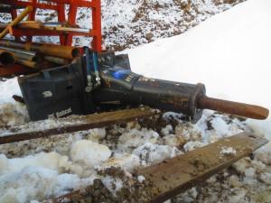 Skid steer bobcat hydraulic breaker hammer