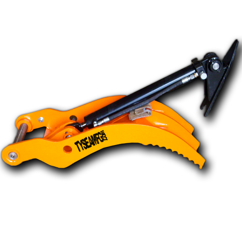 Excavator direct link thumb for increased load capacity and stability