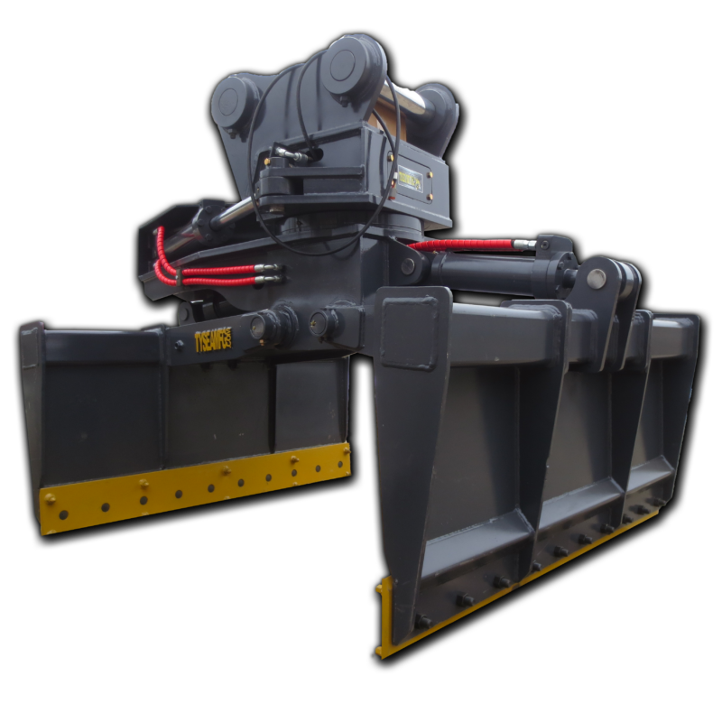 Excavator mat grapples simplify and increase profitability when placing, handling and maneuvering mats