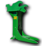 Excavator stump puller attachment
