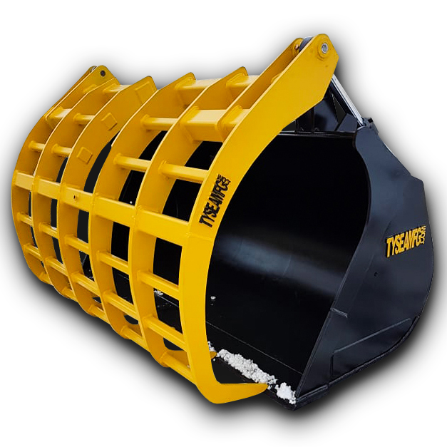 wheel loader corral bucket for agricultural and feedlot applications