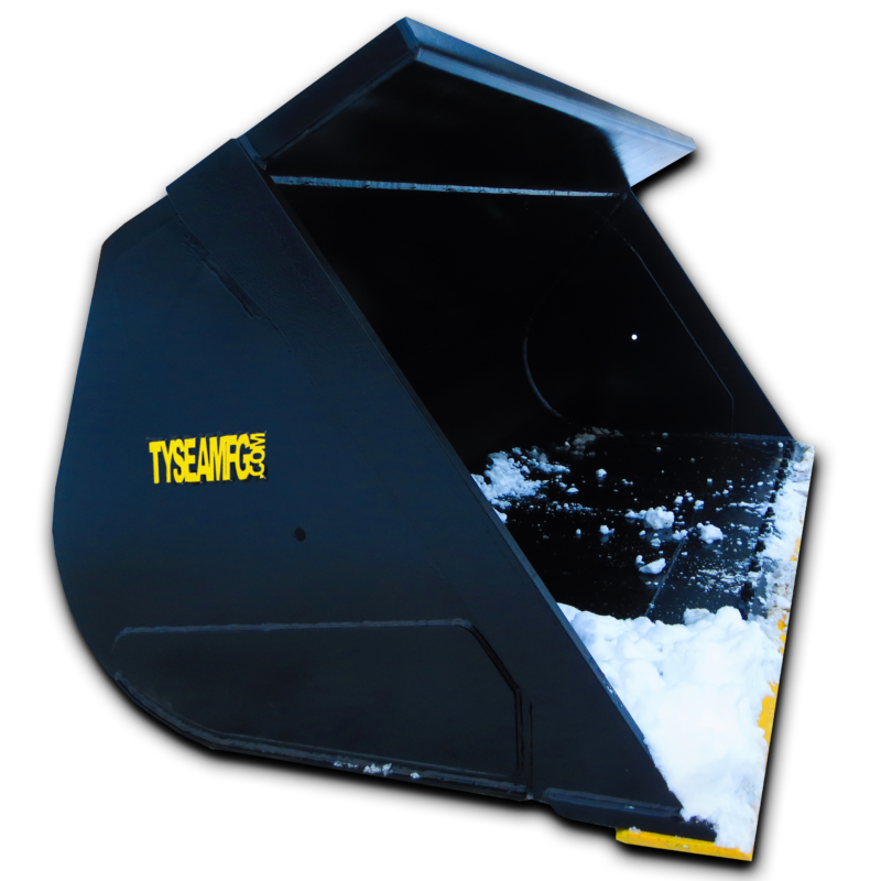Wheel loader general purpose bucket, used for cleanup and light digging applications in addition to general purpose work
