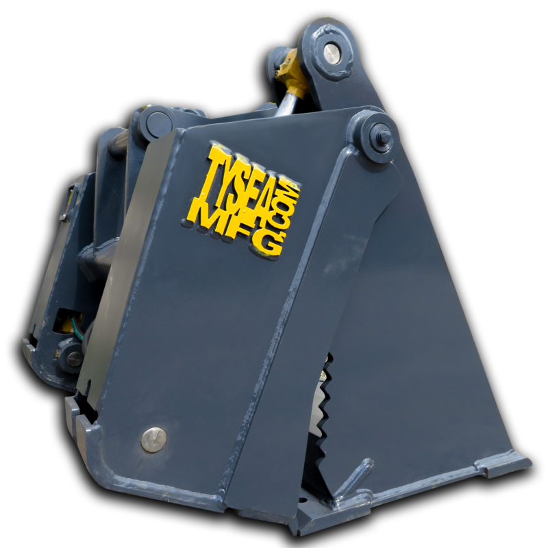 Excavator 4 in 1 bucket with bucket and grapple attachment