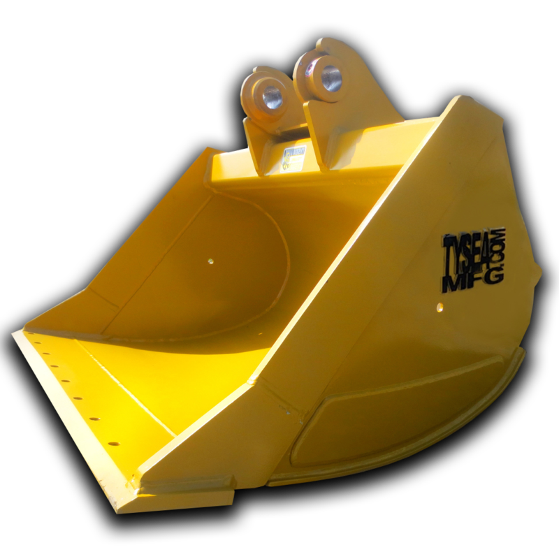 Excavator cleanup bucket attachment, for light duty applications