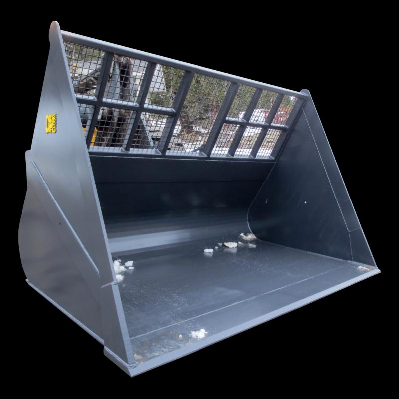 Wheel loader chip bucket - high capacity lightweight material handling bucket
