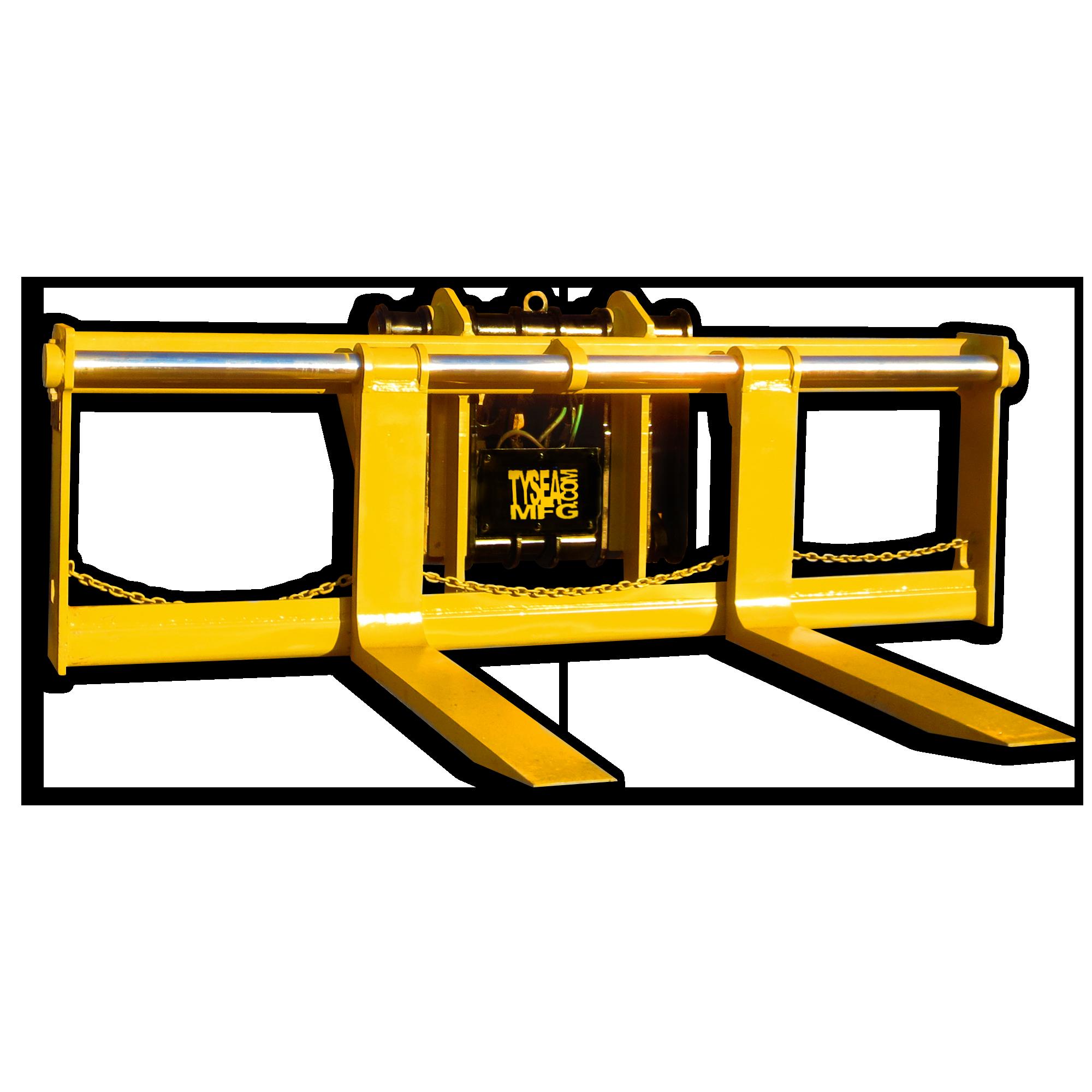 Heavy duty wheel loader pallet forks in custom fork lengths